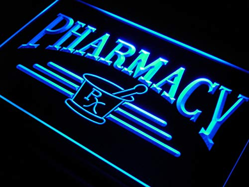 ADVPRO Pharmacy Compounding RX Shop LED Neon Sign Blue 24 x 16 Inches st4s64-j941-b