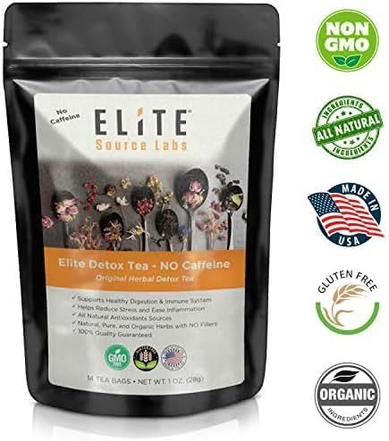 Elite Digestive Cleanse Herbal Tea - Premium Herbal Teas to Support Immune, Gut, and Digestive Health. Gentle Blend of Herbals for Pleasant Taste. 14 Herbal Tea Bags. No Caffeine