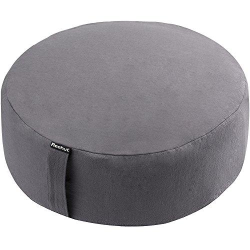 reehut-zafu-yoga-meditation-bolster-pillow-cushion-round-cotton-or-hemp-organic-buckwheat-filled-gre