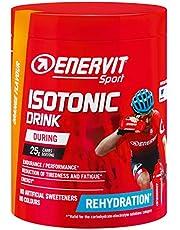 ENERVIT SPORT Isotonic Drink | Isotonisch drankpoeder elektrolyt poeder voor duursporten | Iso Drink voor regelmatige inname tijdens het sporten (oranje, 420 g blik)