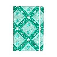 """KESS InHouse """"Diamonds Mint"""" Everything Notebook, Journal Anneline Sophia, Green/Sea Foam (AS1020BNP01)"""