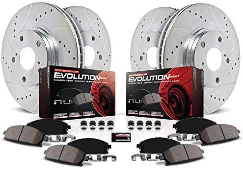 Disc Brake Rotor Set-Front Drilled and Slotted Brake Rotors Front Power Stop