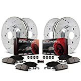 Power Stop K4449 Front and Rear Z23 Evolution Brake Kit with Drilled/Slotted Rotors and Ceramic Brake Pads