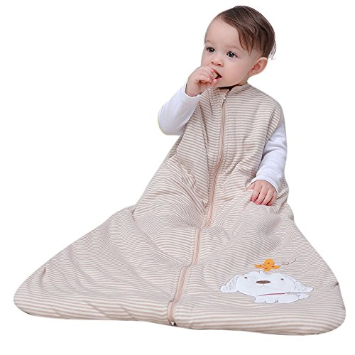 baby sleeping bag cotton boy and gril baby sleepsack Wearable Blanket dog newborn bgas -2.5tog.white.all years. (XL:130cm) 3-6 years