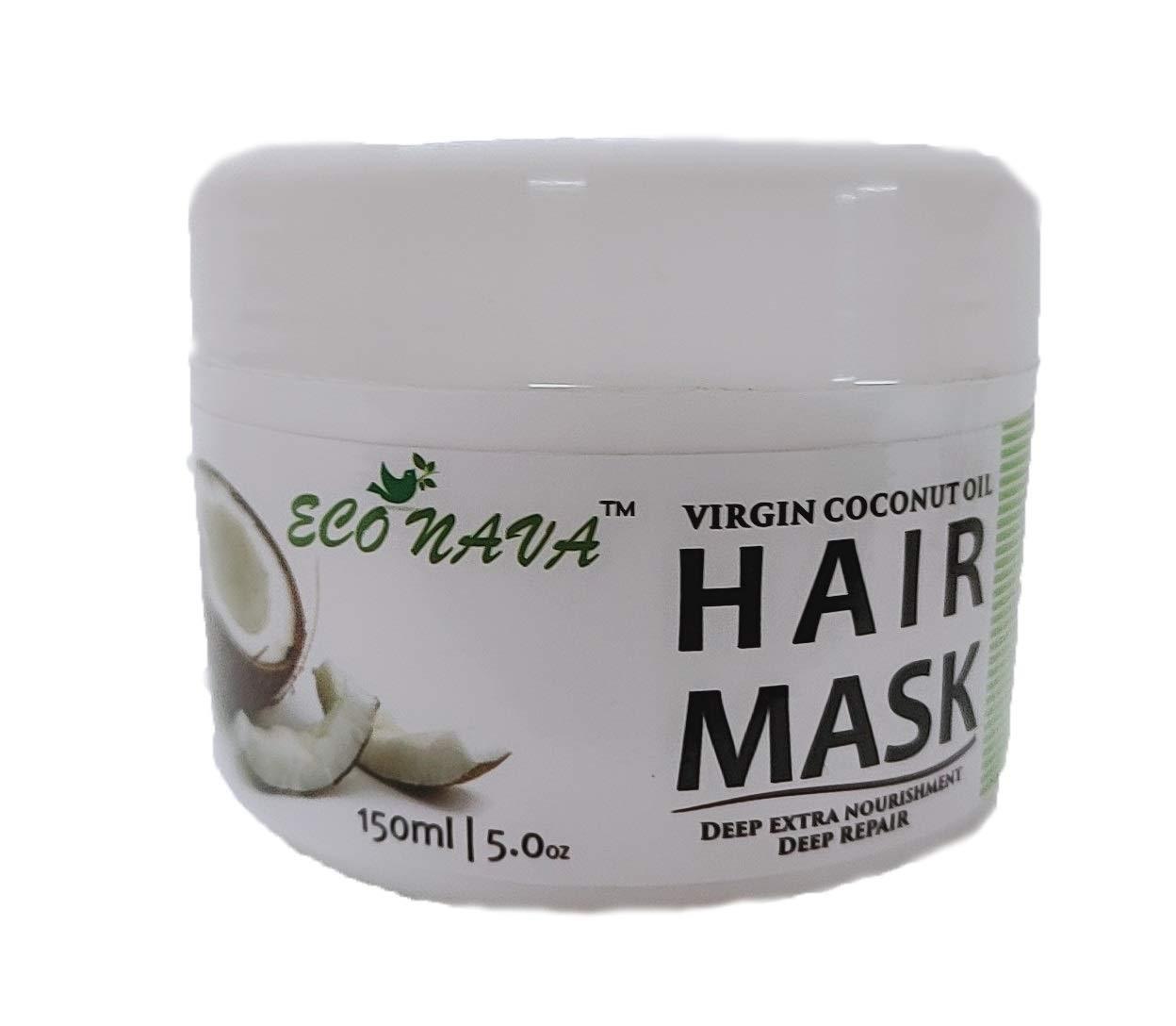 Coconut Hair Mask Cream 200ml Treatment for Damaged & Dry Hair Repair & Growth from Sri Lanka