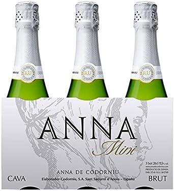 Anna Codorniu - Cava - Pack 3 botellas x 20 cl: Amazon.es: Alimentación y bebidas