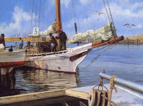 (Oil Painting 'Landscape: Fishing Boats' Printing On Perfect Effect Canvas , 18x24 Inch / 46x61 Cm ,the Best Dining Room Gallery Art And Home Gallery Art And Gifts Is This Reproductions Art Decorative Canvas Prints)
