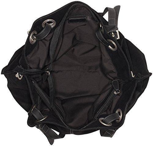 s.Oliver (Bags) 39.710.94.6001 - Borse a secchiello Donna, Schwarz (Black/schwarz), 11.5x32x55 cm (B x H T)