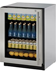 U-Line U3024RGLS15A 24 Modular 3000 Series Built In Counter Depth Compact Refrigerator in Stainless Steel