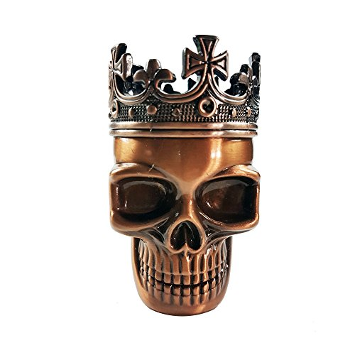 Hongville Skull King Cross Crown 3 Layers Tea/Spice/Herb/DIY Grinder (Copper)