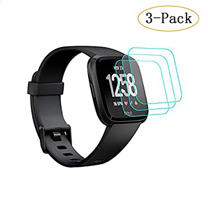 Fitbit Versa Screen Protector, KAERSI Screen Protector for Fitbit Versa Smartwatch, 9H Hardness/Crystal Clear/Scratch Resist/No-Bubble/Waterproof, ...