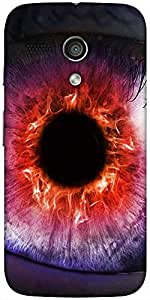 Snoogg The Eye Of The Storm Designer Protective Back Case Cover For Moto-G