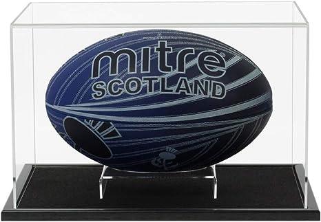 Acrílico Balón de Rugby vitrina con una base de elección de estilos ...