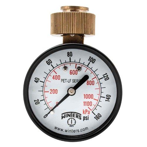 (Winters PETW213LF PETW-LF Series Pressure Gauge, 2.5