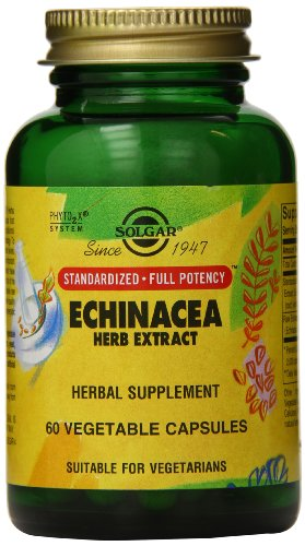 Solgar - Standardized Full Potency Echinacea Herb Extract, 60 Vegetable Capsules ()