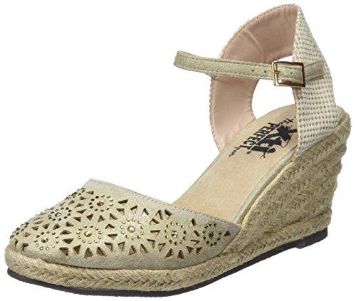 para Gold XTI Mujer con Zapatos Dorado Plataforma 48049 0xx4IF