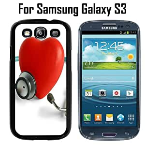 Doctor Heart Custom Case/ Cover/Skin *NEW* Case for Samsung Galaxy S3 - Black - Plastic Case (Ships from CA) Custom Protective Case , Design Case-ATT Verizon T-mobile Sprint ,Friendly Packaging - Slim Case