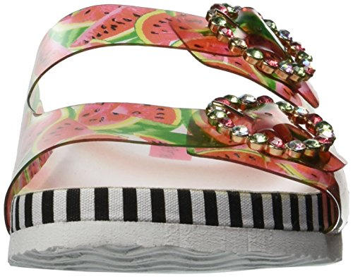 Betsey Johnson Womens Sandalo Con Vetrino Rosso / Multi