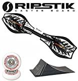 Razor Ripstik Limited Edition CROW Caster Board Skate Board w/ PUNK RAMP & Extra Set of Gray Wheels