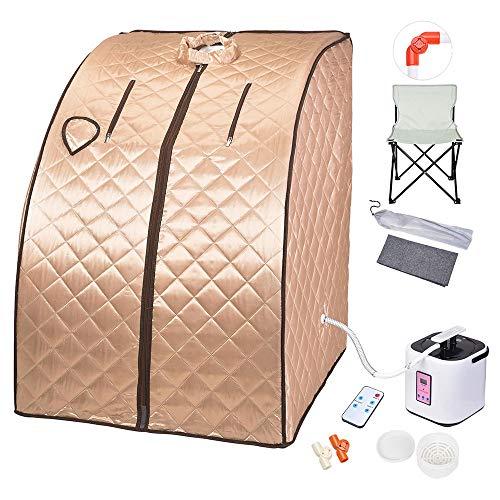 AW 2L Portable Steam Sauna Spa Full Body Sauna Tent Slim Weight Loss...