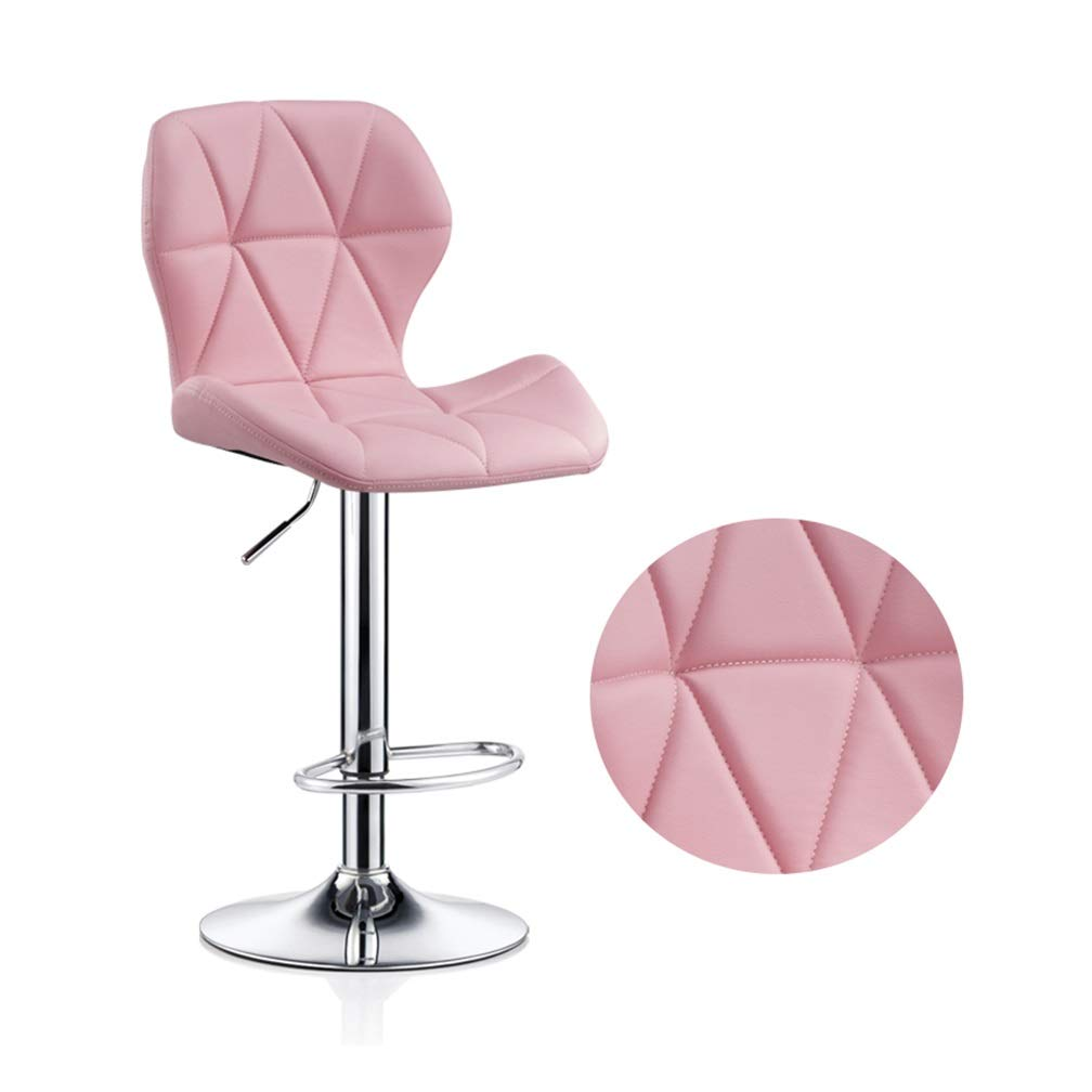 E Large Beauty Stool Bar Chair High Foot Leisure Swivel Seat Can Be Lifted Front Desk Reception Non-Slip Metal Nail Makeup Stool (color   I, Size   S)