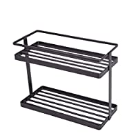 2 Tier Countertop Spice Rack,GONGSHI Kitchen Pantry Stand Shelf Organizer (10.8Lx4.8Wx8.3H)