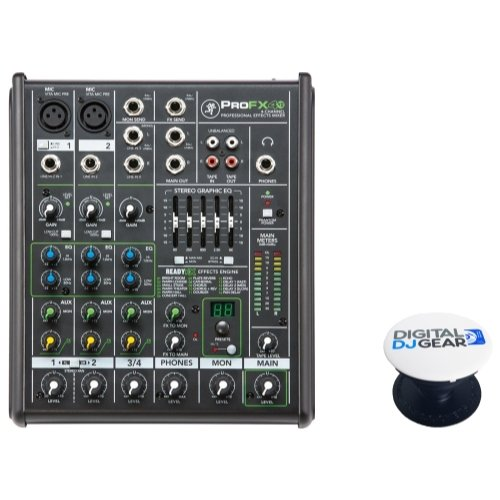 Mackie ProFX4v2 4-Channel Analog Mixer with FX W/FREE POP-SOCKET Digitaldjgear