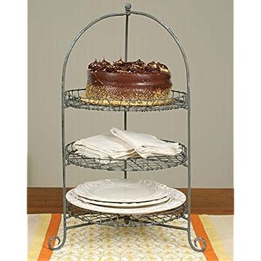 Three-Tier Cake/Dessert Stand Galvanized Finish Metal