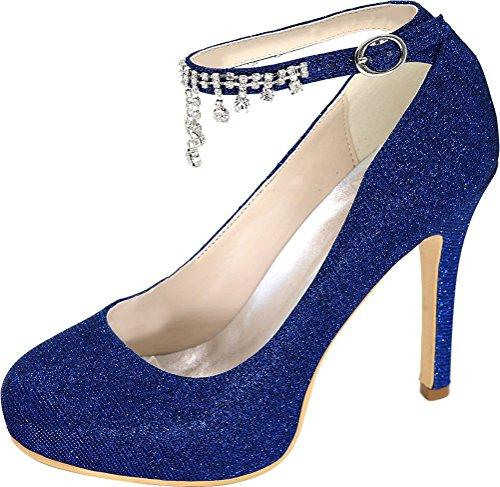 Nice Femme Bleu Find Plateforme Bleu 5 Sandales EU 36 dtwAq7