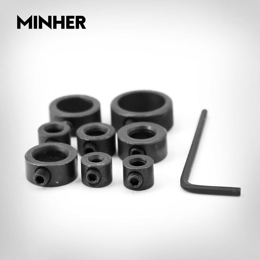 8 tlg 3 16 mm Tiefenanschlagringe Set Stellungsregler Ring,HSS-Sortiment,Positionierer HSS-Locator Tiefenbegrenzer Tiefenstop D/übeln f/ür Bohrer gleichbleibende schraubergebnisse