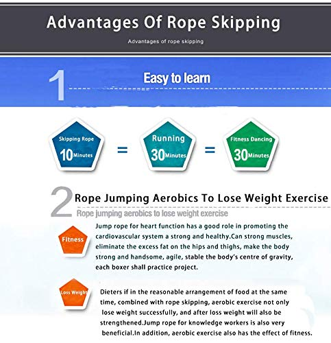 Warison Adjustable Skipping Rope Speed Jump Rope for Fitnes,Boxing,Weight Loss,CrossFit,MMA.Ideal for Men Women Children