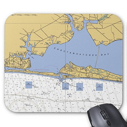 Starings Mouse Pads Choctawhatchee Bay, Fl Nautical Chart Mouse Mat