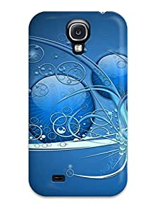New Arrival Blue Abstract Widescreen RsBWpko18389COhrL Case Cover/ S4 Galaxy Case