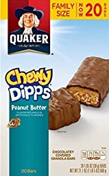 Quaker Chewy Dipps Peanut Butter Granola Bars, 1.05 oz, 20 count