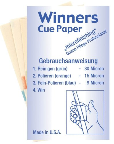 Profi Queue Pflege, Winners Cue-Paper (Set).