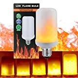 Unionup LED Flame Effect Fire Light Bulbs,2 modes Creative with Flickering Emulation Lamps,Simulated Nature Fire in Antique Lantern Atmosphere for Holiday Hotel/ Bars/ Home Decoration Restaurants -New