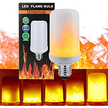 base lighting and fire limited. unionup led flame effect fire light bulbs,2 modes creative with flickering emulation lamps, base lighting and limited