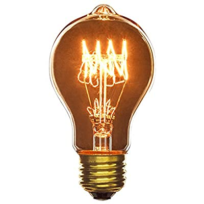 Sunlite 60A19/AQ/L/SM 60-watt Antique Victorian Style A19, Medium Base, Smoke