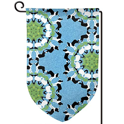 smartgood Border Collie and Sheep Snowflakes_3790 Sweet Home Garden Flag Vertical Double Sided Decorative Spring Summer Yard Outdoor Decorative 12 x 18 Inch