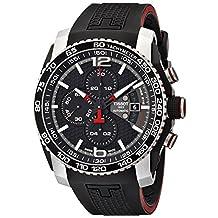 Tissot Men's Prs 516 T079.427.27.057.00 Black Rubber Swiss Chronograph Watch with Black Dial