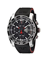 Tissot Men's Prs 516 T079.427.27.057.00 Black Rubber Swiss Chronograph Watch with Black Dial