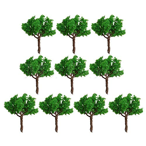Part & Accessories Mxfans 30mm Mini Green Plastic Model Trees Train Railways Architecture Landscape Scenery Layout DIY Pack of 10 - (Color: GREEN)