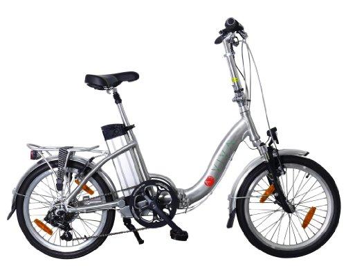 AsVIVA B7 Elektrofahrrad /Faltrad 20 Zoll - E-Bike mit 36V 11Ah Akku das Klapprad / Pedelec, silber