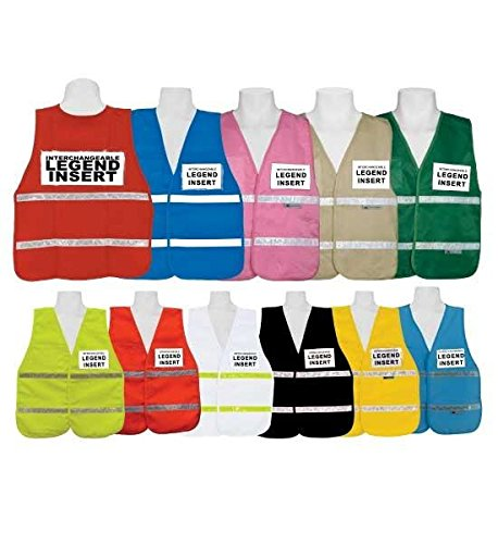 (3A Safety - IC1000 - Incident Command Vest, color: Red, size: Regular)