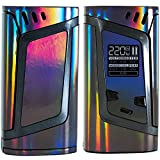 alien vaporizer - SPACE STICKERZ - SMOK ALIEN 220W Skin - Custom Protective Vinyl Decal for ecig - Best quality cover - Second life to your box mod, wrap and enjoy + BONUS STICKERS (Black Laser)