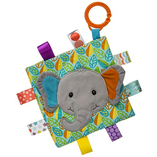 Taggies Crinkle Me Baby Toy, Little Leaf Elephant (Elephant Leaf)