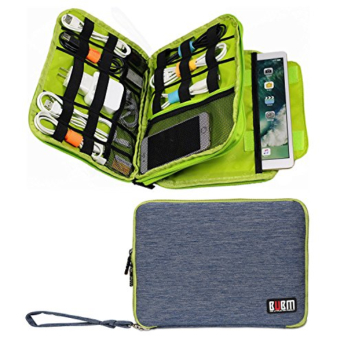 Travel Universal Cable Organizer Electronics Accessories Double Layer Gadget Bag For Various USB, Phone, 9.7inch ipad