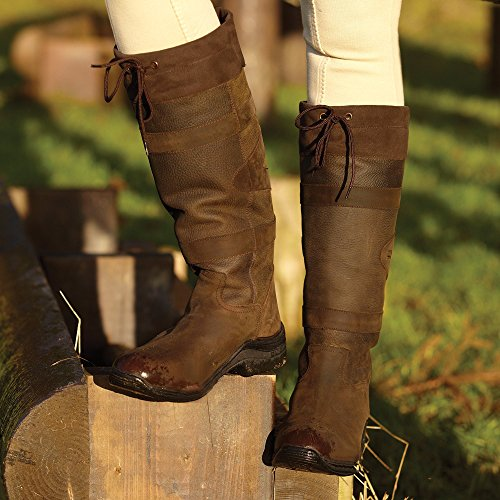 Toggi Canyon Country / Botas de equitación Color Chocolate – Anchas, chocolate, 42 Chocolate