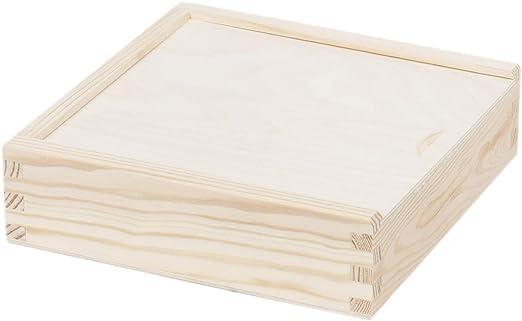 2 compartimentos caja de madera caja caja de madera cuadrado ...