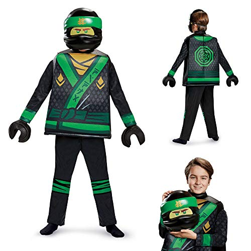 Disguise Lloyd Lego Ninjago Movie Deluxe Costume, Green, Small -